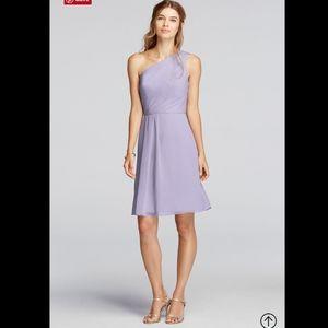 NWT DAVID'S BRIDAL 1 Shoulder Chiffon Dress. 26